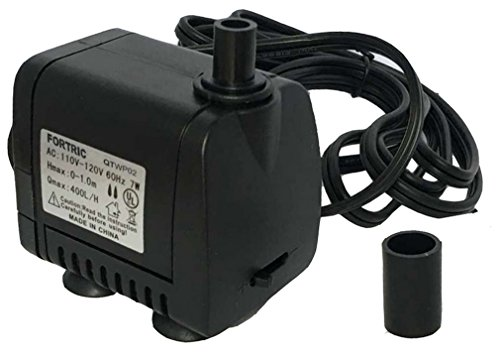 FORTRIC AC 110-120V 7W 100GPH Submersible Water Hydroponic ...