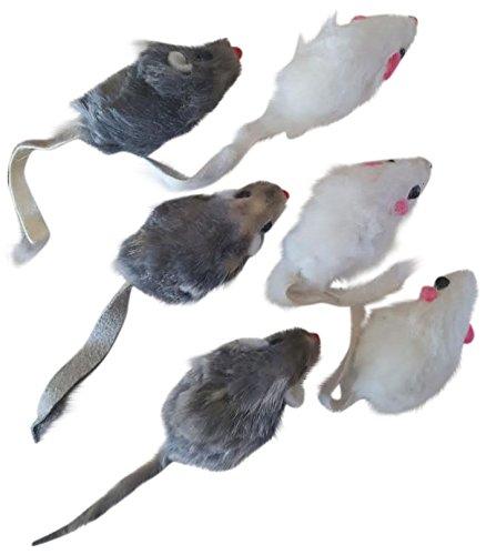 Real Fur Mice Cat Toys