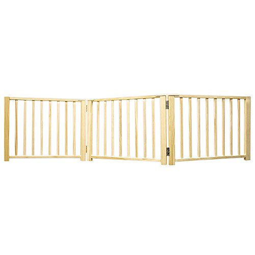 Four Paws Expandable Dog Gate Wood Gate For Dogs 3 Panel