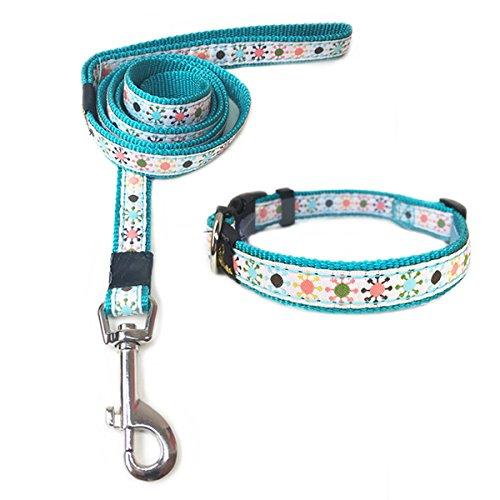 annimos pet dog cat collar leash set adjustable breakaway collars pets trend store. Black Bedroom Furniture Sets. Home Design Ideas