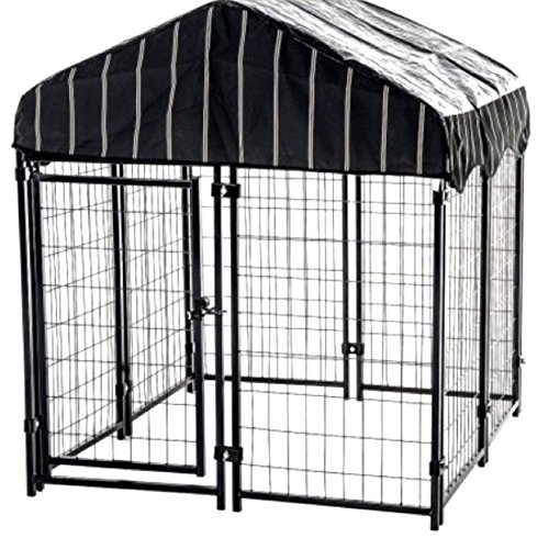 Steel Dog Kennel For Outside Wire Pen Run House Covered Shade ...