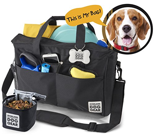 dog travel bag day away tote for all size dogs includes bag lined food carrier and luggage