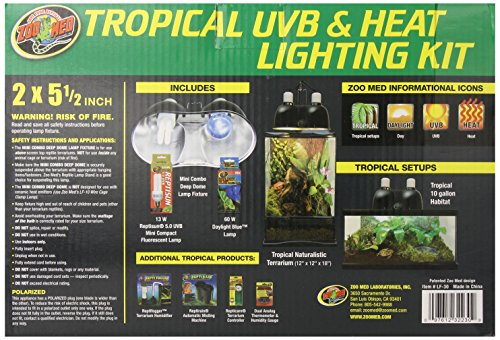 Zoo Med Tropical Uvb And Heat Lighting Kit Pets Trend Store