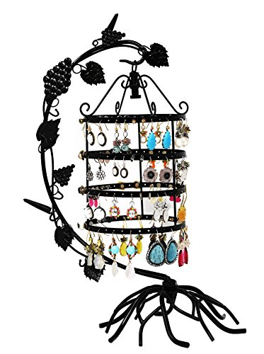 Arad Birdcage Earring And Necklace Holderjewelry Organizer Display