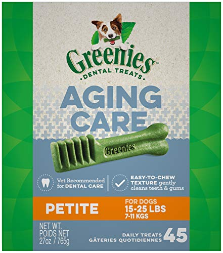 GREENIES Aging Care Petite Natural Dog Dental Care Chews ...