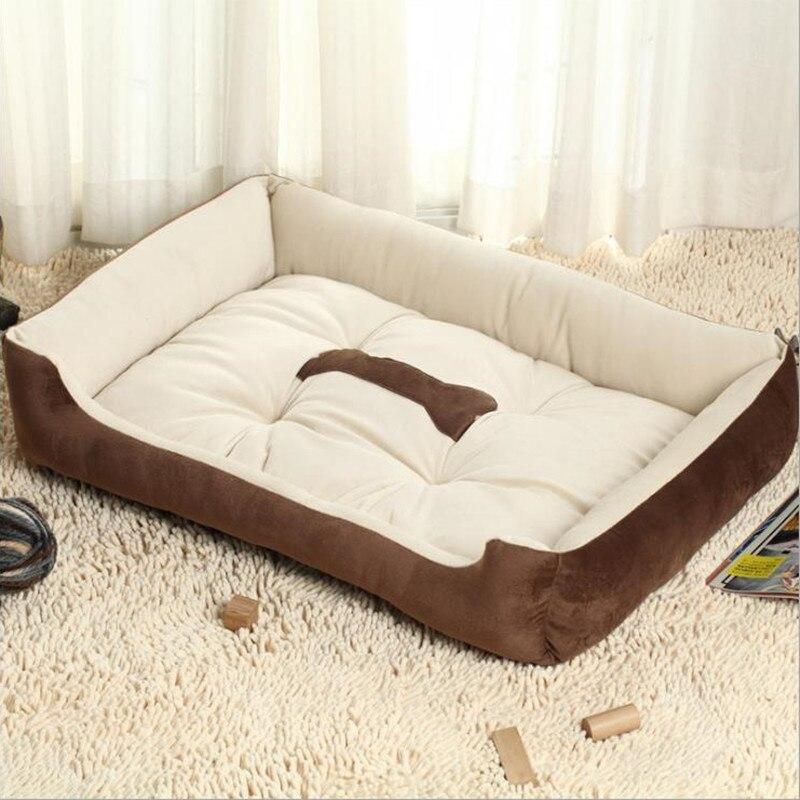 Pet Dog Soft Fleece Winter Keep Warm Bed Cushion Bone Print Large Breed Dog Sofa For Small Large Dog Cat DB705