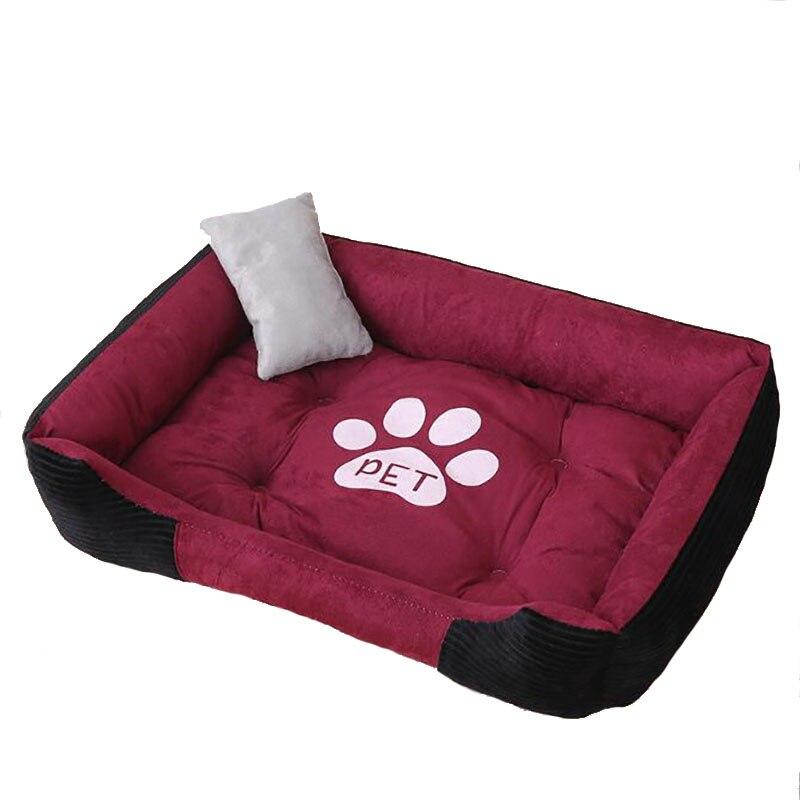 Soft Fleece Cartoon Pet Dog Bed Breathable Cotton Large Breed Dog Beds For Labrador Golden Cushion Bone Retriever Summer Dog Mat